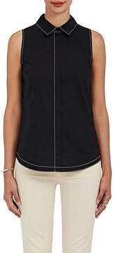 Derek Lam 10 Crosby Women's Button-Back Cotton Poplin Top