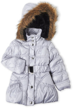 Urban Republic Toddler Girls) Hooded Faux Fur Belted Puffer Jacket