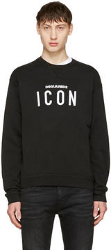 DSQUARED2 Black Icon Logo Sweatshirt
