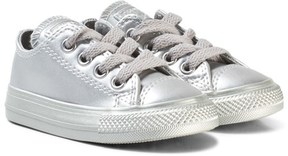 Converse Silver Infants Chuck Taylor All Star Low-Tops