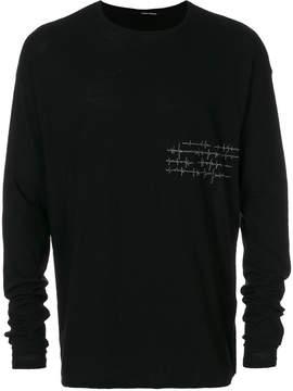 Isabel Benenato crew neck sweatshirt