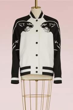 Valentino Panther Wool Varsity Jacket
