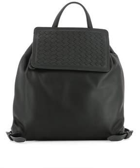Bottega Veneta Women's Black Leather Backpack.