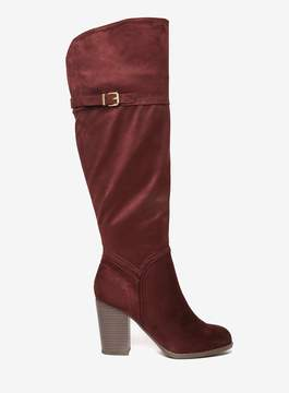 Dorothy Perkins Burgundy 'Kadie' Knee High Boots