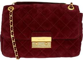 Michael Kors Women's Large Sloan Quilted Suede Fabric Shoulder Bag - Plum - PLUM - STYLE