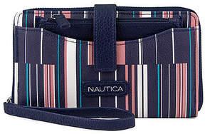 Nautica Plain Sailing Zip-Around Wristlet With Removable Pouch - Ribbon Stripe
