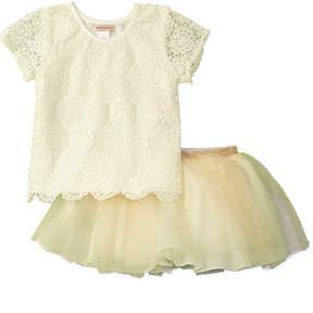 Nanette Lepore Girls' Crochet Lace Skirt Set