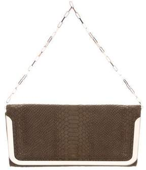 Botkier Embossed Suede Flap Clutch
