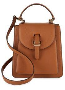 Floriana Textured Leather Crossbody Bag