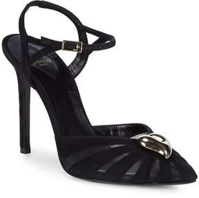 Aperlaï Women's Brooch Accent Stiletto Sandals