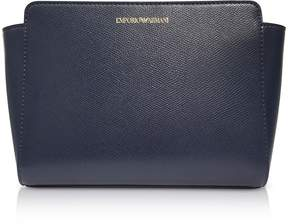 Emporio Armani Deep Blue Lizard Print Shoulder Bag