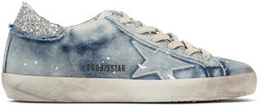 Golden Goose Deluxe Brand Blue Bleached Superstar Sneakers
