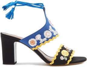 Tabitha Simmons Thais embroidered sandals