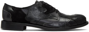Comme des Garcons Black Leather Patchwork Derbys
