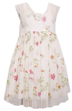 Iris & Ivy Little Girl's Floral Embroidered Dress