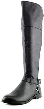 Bar III Womens Dolly Leather Almond Toe Knee High Riding Boots.