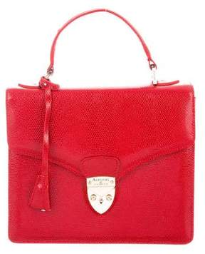 Aspinal of London Embossed Leather Handle Bag