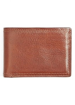 Bosca Men's Leather Bifold Wallet - Brown