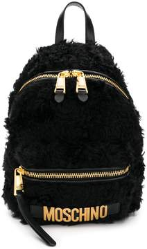 Moschino furry backpack