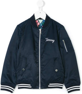 Tommy Hilfiger Junior reversible bomber jacket