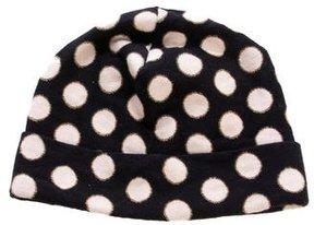 Diane von Furstenberg Polka Dot Knit Beanie