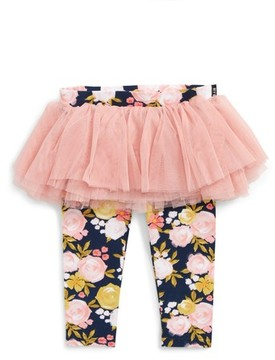 Rock Your Baby Infant Girl's Painted Garden Leggings
