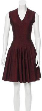 Alaia Metallic Fit and Flare Dress