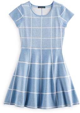 My Michelle Girls 7-16 Grid Skater Dress