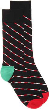 Happy Socks Men's Candy Cane Men's's Crew Socks