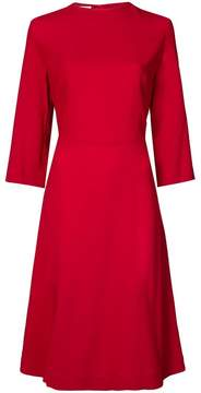Mansur Gavriel three quarter sleeves dress