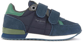 Pepe Jeans Suede leather velcro sneakers