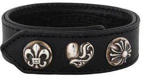 Chrome Hearts Studded Leather Wrap Bracelet