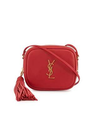 Saint Laurent Monogram Blogger Crossbody Bag, Red - RED - STYLE