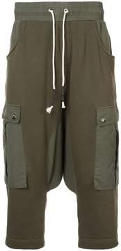 Mostly Heard Rarely Seen drop crotch cargo hybrid pants