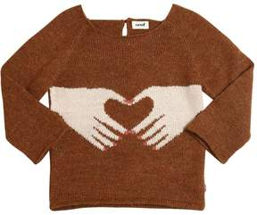 Oeuf Heart Hands Tricot Baby Alpaca Sweater