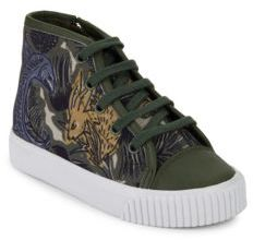 Burberry Kid's Warslow Print High-Top Sneakers