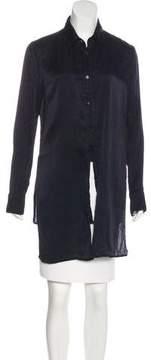 RtA Denim Silk Button-Up Top