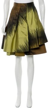 Donna Karan Silk-Blend Draped Skirt