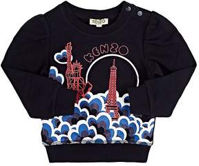 Kenzo Infants' Eiffel-Tower-Print Cotton French Terry Sweater