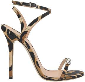 Giuseppe Zanotti Alien Crystal-Detailed Leopard Sandals