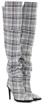 Off-White Plaid over-the-knee boots
