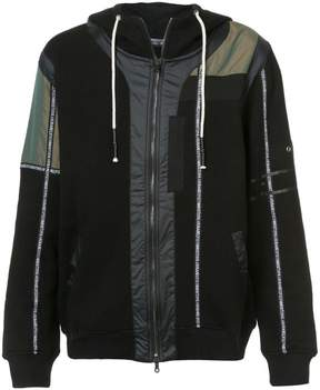 Mostly Heard Rarely Seen branded taping zip up hoodie