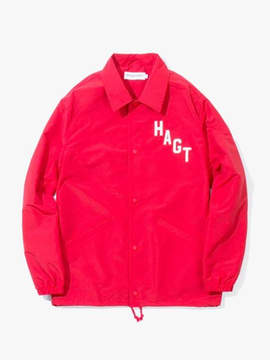 Have A Good Time Arch Logo Coach Jacket Red