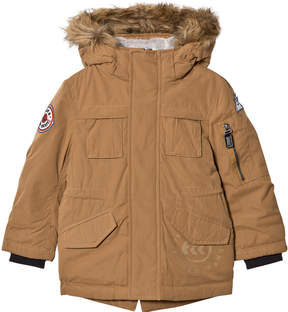 Ikks Camel Padded Parka with Teddy Lining