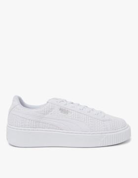 Puma Basket Platform in White
