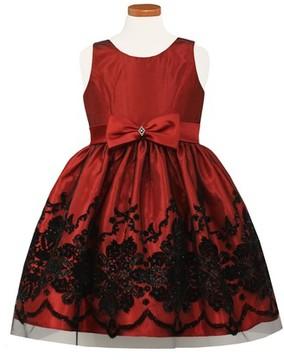 Sorbet Girl's Flocked Fit & Flare Dress