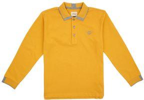 Armani Junior Long Sleeve Eagle Polo Shirt