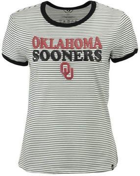'47 Women's Oklahoma Sooners Striped Ringer T-Shirt