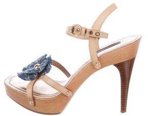 Louis Vuitton Monogram Idylle Floral Platform Sandals