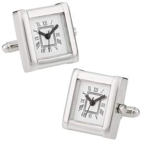 Bed Bath & Beyond Working Silver Rhodium Plated Watch Cufflinks